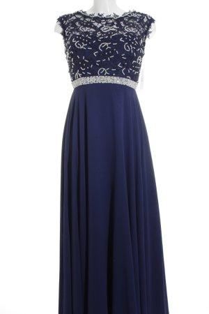 Eva & Lola Abendkleid blau-weiß Elegant