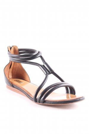 Eva Turner Roman Sandals black casual look