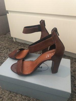 Vera Pelle Platform Sandals brown