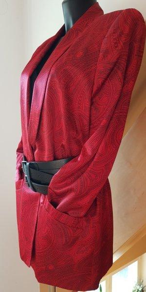 Evan-Picone Blazer smoking nero-rosso scuro Poliestere