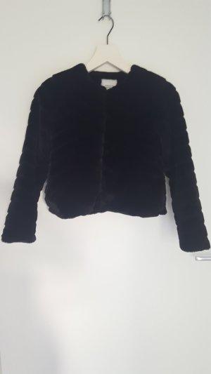 Evan Short fake fur jacket - Jacqueline de Young - Only