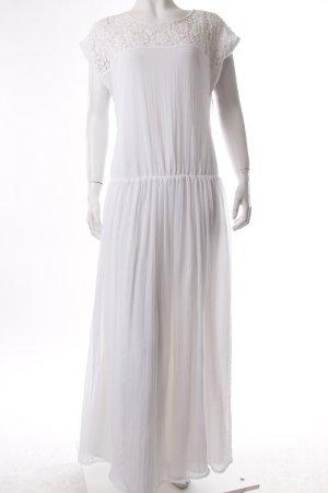 crochet Evaw Wave Maxi Dress White