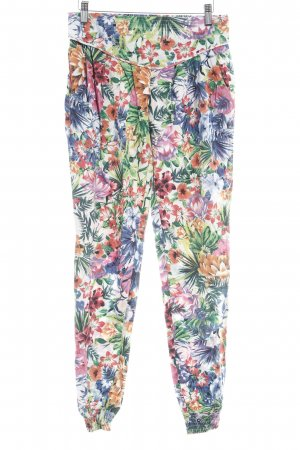Evaw Wave Stretchhose florales Muster Casual-Look
