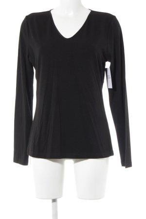 Eve in Paradise Longshirt schwarz schlichter Stil