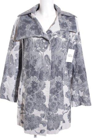 Evelin Brandt Berlin Jerseyblazer anthrazit-weiß florales Muster Casual-Look