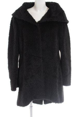 Evelin Brandt Berlin Fake Fur Coat black casual look
