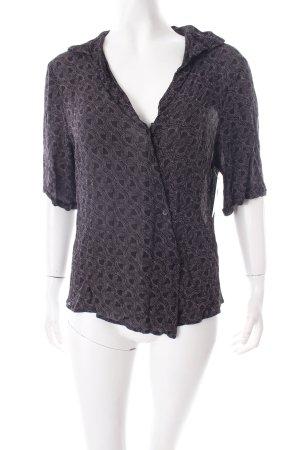 Evelin Brandt Berlin Kurzarm-Bluse schwarz-weiß abstraktes Muster