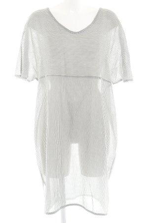 Evelin Brandt Berlin Kurzarmkleid schwarz-weiß Streifenmuster Casual-Look