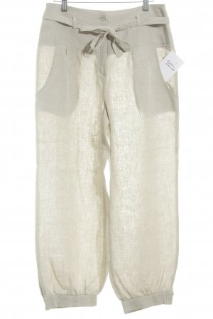 Evelin Brandt Berlin Linnen broek licht beige Beach-look