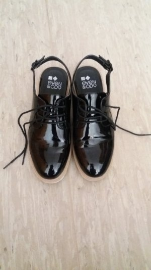 Even & Odd Lace Shoes black-white imitation leather