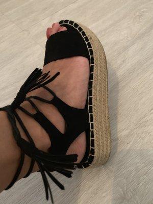 Even & Odd Sandalo con tacco nero-crema