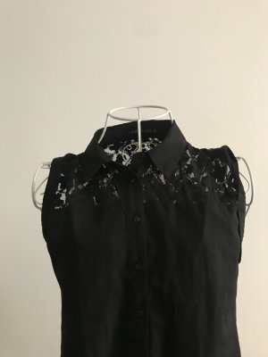 Even &Odd - Ärmellose Bluse mit Meshmustet