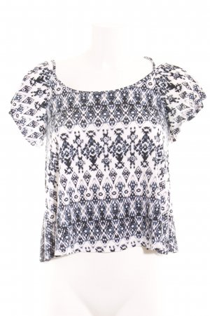 Even & Odd Carmen Shirt dark blue-white abstract pattern casual look