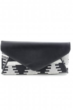 Even & Odd Clutch schwarz-weiß Aztekenmuster Casual-Look