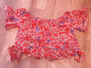 Even&Odd Cropshirt Crop Shirt Carmen Bardor Offshoulder Bluse