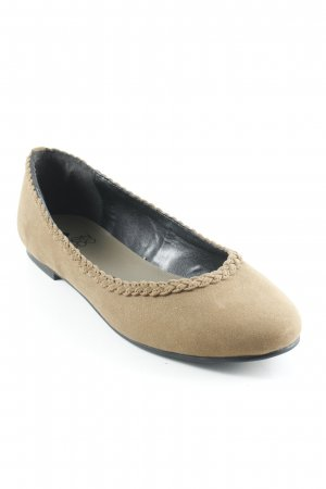 Even & Odd faltbare Ballerinas ocker Casual-Look