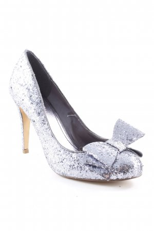 Even & Odd High Heels silberfarben Glitzer-Optik