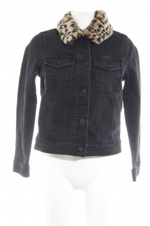 Even & Odd Jeansjacke schwarz Casual-Look