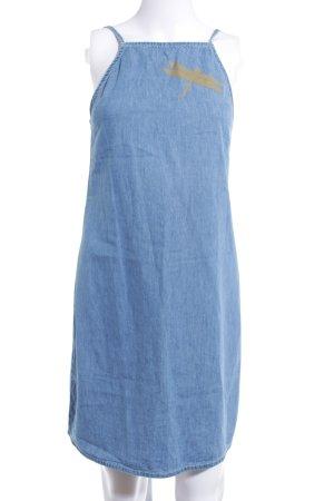 Even & Odd Jeanskleid dunkelblau-blau Motivdruck sportlicher Stil