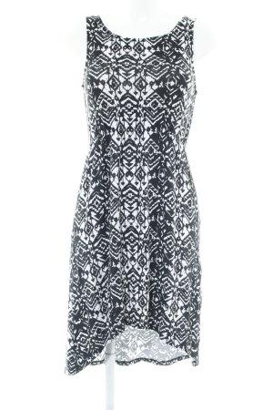Even & Odd Jerseykleid schwarz-weiß abstrakter Druck Casual-Look