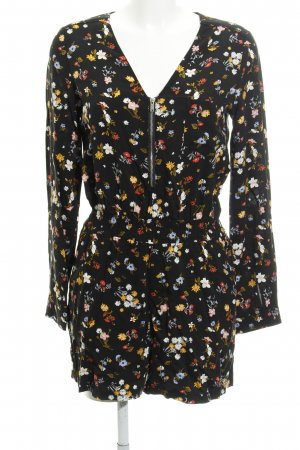 Even & Odd Jumpsuit schwarz florales Muster Beach-Look