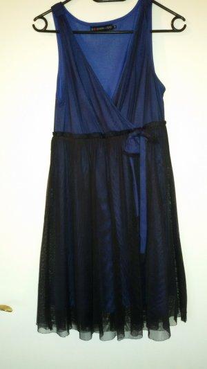 even&odd Kleid schwarz/blau