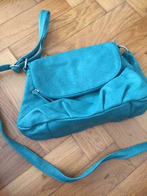 Even & Odd, Kunstleder-Handtasche in petrol blau-grün