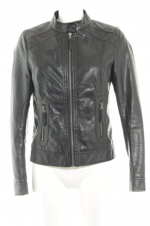 Even & Odd Kunstlederjacke schwarz Casual-Look