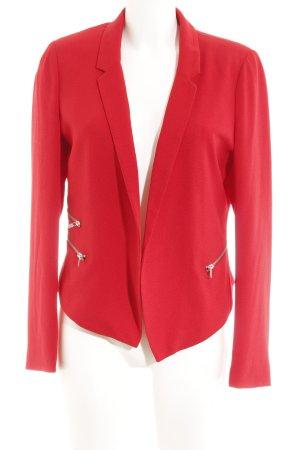 Even & Odd Blazer corto rosso stile professionale