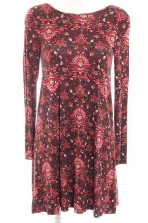 Even & Odd Langarmkleid florales Muster Elegant