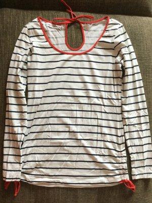 Even & Odd Langarmshirt im Marinelook mit roten Schleifen