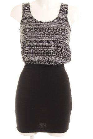 Even & Odd Minikleid schwarz-weiß Aztekenmuster Casual-Look