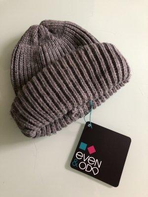 Even & Odd Chapeau en tricot gris-gris foncé