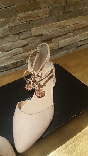 even & odd sandalen Gr 40 rose quasten