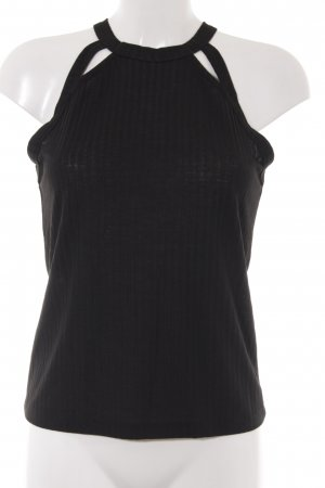 Even & Odd schulterfreies Top schwarz Casual-Look