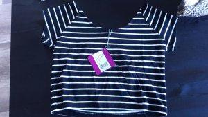 Even & Odd Shirt Crop Cropshirt Cropped Ringel Streifen