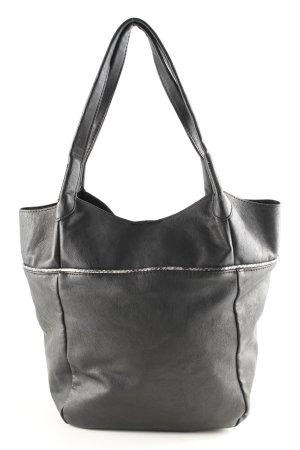 Even & Odd Shopper schwarz-silberfarben schlichter Stil