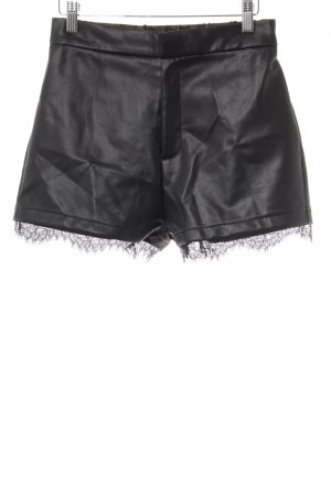 Even & Odd Shorts schwarz Lack-Optik