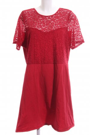 Even & Odd Lace Dress red flower pattern elegant