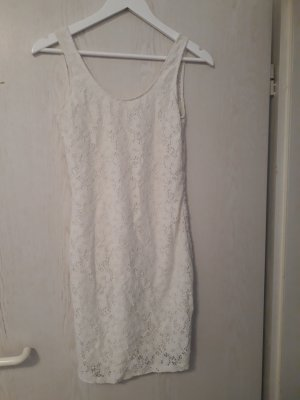 Even & Odd Robe en dentelle blanc