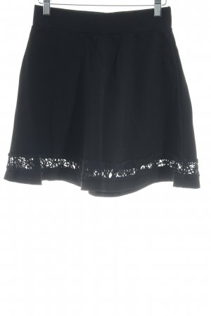 Even & Odd Falda stretch negro elegante