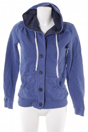Even & Odd Sweatjacke blau Casual-Look