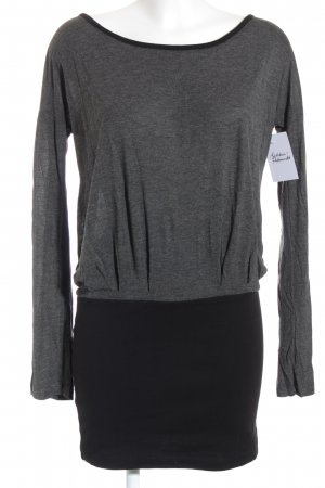 Even & Odd Sweatkleid schwarz-grau Casual-Look