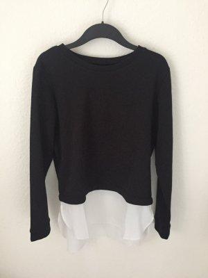 Even&Odd Sweatshirt Schwarz mit Bluseneinsatz