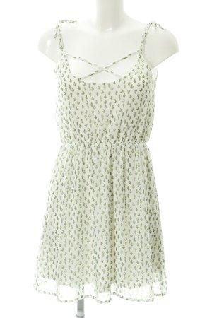 Even & Odd Trägerkleid weiß-grasgrün abstraktes Muster Beach-Look