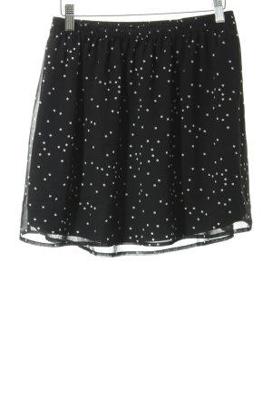 Even & Odd Falda de tul negro-blanco estampado a cuadros look Street-Style