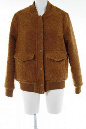Even & Odd Winterjacke hellbraun Kuschel-Optik