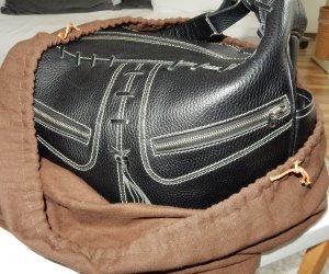 Evergreen der Handtaschen: Tod's Miky Bag, schwarz mit weißen Nähten