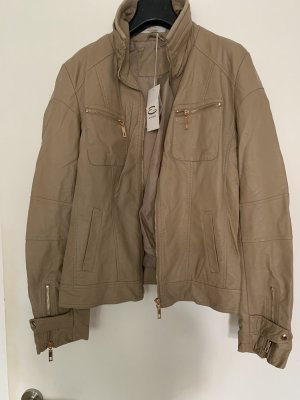 Everis Faux Leather Jacket cream-beige