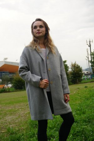 EVERLANE The Cocoon Coat/ grau/ ethical // Ungetragen